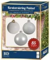 Kerstballen met ster piek set wit voor 180 cm kerstboom kerstversiering 10161747