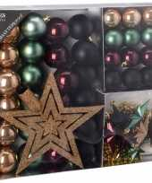 Kerstboom decoratie set 45 delig seasons classics kerstversiering