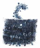 Kerstboom folie slinger met ster blauw 700 cm kerstversiering