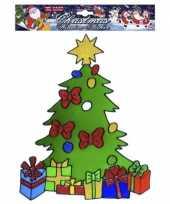 Kerstboom raamsticker herbruikbaar kerstversiering