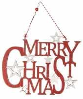 Kerstboomversiering kersthangers merry christmas 35 cm kerstversiering