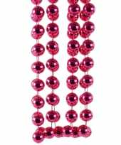 Kerstboomversiering kralenslinger fuchsia 270 cm kerstversiering