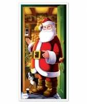 Kerstman deurversiering 152 cm kerstversiering