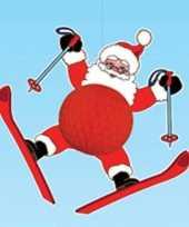 Kerstman hangversiering 50 cm brandvertragend kerstversiering