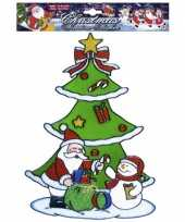 Kerstman raamsticker herbruikbaar kerstversiering 10062313