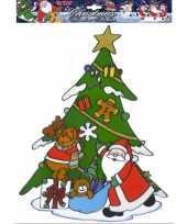 Kerstman raamsticker herbruikbaar kerstversiering 10062318