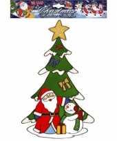 Kerstman raamsticker herbruikbaar kerstversiering