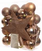 Nature christmas complete kerstversiering pakket 33 stuks 10097519