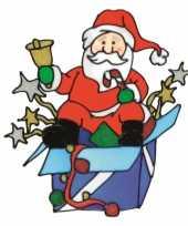 Raamsticker kerstmis kerstman kerstversiering