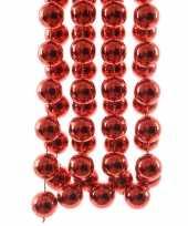 Rode kerstversiering kralenketting 270cm