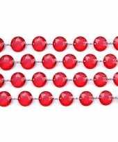 Rode slinger met kristalletjes kerstversiering