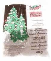 Sneeuwdecoratie glitter sneeuw 40 gram kerstversiering