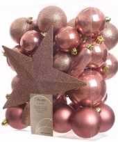 Sweet christmas complete kerstversiering pakket 33 stuks 10097510